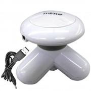 Mini Massageador Vibrador USB ou Pilhas MIMO Branco CBRN0937