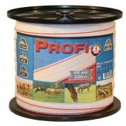 Kerbl Stängselband Profi 200 m 40 mm Vit-röd TriC 59502