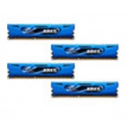 Ares Blue Series 16 Go (4 x 4 Go) DDR3 1600 MHz CL9, Kit Quad Channel DDR3 PC3-12800 F3-1600C9Q-16GAB par G.Skill)
