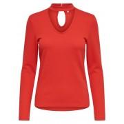 ONLY Choker Long Sleeved Top Kvinna Röd