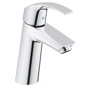 Grohe 23324001 Eurosmart Washbasin Tap One-Hand / Medium Height / Smooth Surface / No Holes for Rod