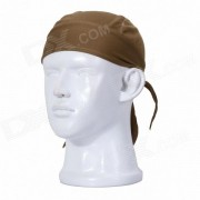 Qinglonglin ED estilo de secado rapido de la tela Cycling Cap - Brown