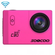 SOOCOO C30 2.0 inch Screen 4K 170 Degrees Wide Angle WiFi Sport Action Camera Camcorder with Waterproof Housing Case Support 64GB Micro SD Card Diving Red Light Compensation Voice Prompt Gyroscope Anti-shake HDMI Output(Magenta)