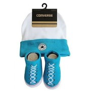 Converse - All Star Infant Hat&Booties, 0-6 luni, Alb/Bleu
