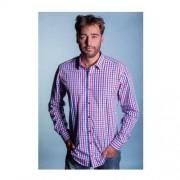 ThomasWaxx Koszula w niebiesko różową kratkę