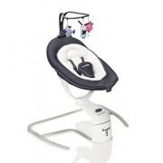 Babymoov A055008 Swoon-Motion 360° Sdraietta a Dondolo Automatizzata, Zinco/Bianco