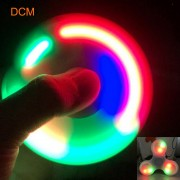 HotSale LED Light Hand Finger Spinner Fidget EDC Hand Spiners For Adult/Kids Autism/ADHD Relief Focus Anxiety Stress Gift Toys