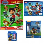 Paw Patrol Drawing, Design & Art Gift Set with 30-sheet Paw Patrol Sketchpad, Giant Coloring & Activity Book, 10-pc Jumbo Crayons and 5 PC Stationery set - 4 Items