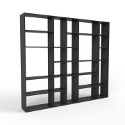 Bücherregal Schwarz, MDF, 266 cm x 232 cm x 34 cm