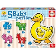 Jigsaw Puzzles 2 To 4 Pieces 5 Baby Puzzles Farm Animals