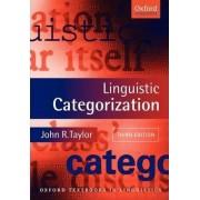 Linguistic Categorization by John R Taylor