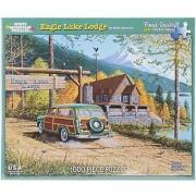 White Mountain Puzzles Eagle Lake Lodge - 1000 Piece Jigsaw Puzzle