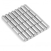 Set Of 20Pcs 8mm x 10mm Cylinder Rare Earth NdfeB Neodymium Strong Magnets N52