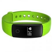 [Nueva versión]Deportes Pulsera,PALADY ID107 Bluetooth 4.0 inteligente pulsera SmartBand Monitor de ritmo cardíaco deporte pulsera Fitness Tracker para Android IOS Smartphone, para iPhone 7, 0.05 pounds