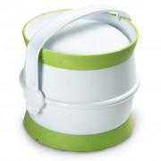 Curver Voedselcontainer huisdieren reisset 1,5 L wit en groen 794020