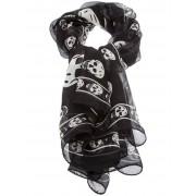 Alexander McQueen шелковый шарф в принт с черепами Alexander McQueen