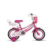F.lli Schiano Mary Kate Bicicleta para Niñas, Fucsia, 12''