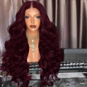 rosegal Middle Part Fluffy Long Loose Wave Synthetic Wig
