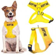 Dexil ADOPT MOI Jaune Nylon rembourré étanche Adjustable Dog Harness Vest Small (New Home Needed) Donate To Your Local charity
