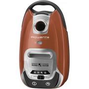 Rowenta RO6432EA Aspirateur avec Sac Silence Force 4A - Puissant et Silencieux (66dB) - Nouveau Sac Haute Filtration Ultra - Hygiénique - Ultra-Maniable (4 roues) - Rangement Intégré - Orange
