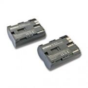 INTENSILO 2x Li-Ion batterie 1900mAh (7.4V) pour caméra Camcorder Video Canon Powershot G1, G2, G3, G5, G6, Pro 1, Pro 90is : BP-508, BP-511, BP-535.