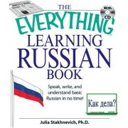 Everything Learning Russian Book With Cd by Julia Stakhnevich