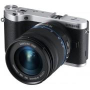 Aparat Foto Mirrorless Samsung EV-NX300 (Negru), cu Obiectiv 18-55mm, Filmare Full HD, 20.3MP