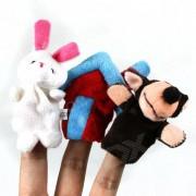 Cute Puzzle Juguetes Educativos Wolf + House + Rabbit Finger Sleeve - Multicolor