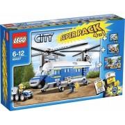 LEGO CITY POLIZIA SUPERPACK 4 IN 1 66427 OSSIA 4436 4437 4439 4441