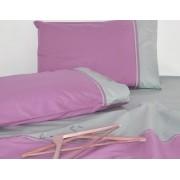Lenjerie de pat din bumbac Valentini Bianco VKR20 Lilac