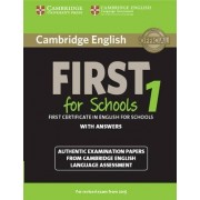 Cambridge English First 1 for Schools for Revised Exam from 2015 Student's Book with Answers: 1