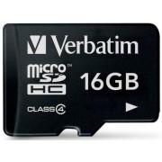 Card Verbatim microSDHC 16GB (Class 4)