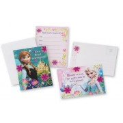 Disney Frozen Thank You Post Cards And Invitations Cards with Envelopes x 3 set (includes 24 Invitat