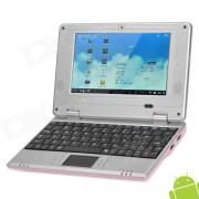 """V702 7.0"""" LCD Android 4.0 Netbook w/ Wi-Fi / Camera / LAN / HDMI / SD Slot - Pink"""