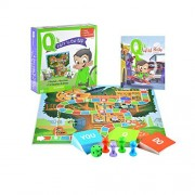 Q's Race to the Top Educational Board Game with Book: social skills, manners, and better behavior! by EQtainment