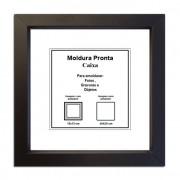 Moldura Pronta 20x20 Caixa Preta Casa Castro