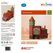 keranova keranova319 échelle 1: 87 x 10 x 17 x 18 cm Papier Clever Collection de Bâtiments Fire Station Puzzle 3D