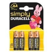 DURACELL Piles AA LR6 pack de 4 SIMPLY