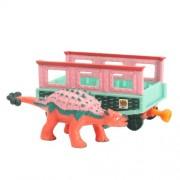 Learning Curve Dinosaur Train My Friends have Armor: Eugene - Dinosaurio de juguete coleccionable con vagón de tren