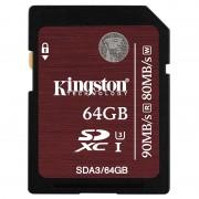 Cartão de Memória SDXC Kingston - 64GB
