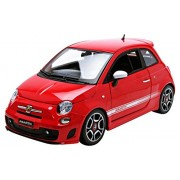 Bburago - 12078R - Fiat 500 Abarth - 2008 - Echelle 1/18 - Rouge/Blanc