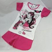 Monster High pizsama - pink/fehér