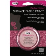 Light Pink Tulip Fashion Glitter Shimmer Fabric Paint 1.75 Ounces Duncan TSP-28966