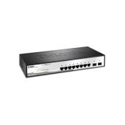 Switch 8 porturi Gigabit 802.3, 2 porturi combo