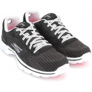 Skechers GO WALK 3-FITKNIT Walking(Black, White)