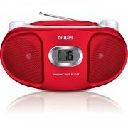 Philips AZ105R/05 Radio CD avec tuner FM 2W Rouge