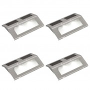 vidaXL Соларни лампи за стълби – 4 броя