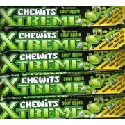 Chewits Xtreme Sour Apple Chews Packets