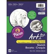 "Art1st Sketch Pad, 60-lbs. Heavyweight Drawing Paper. 9"" x 12"", 50 Sheets/Pad"