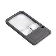 Carson PM-33 Lupa de bolsillo con iluminación LED, 2.5x / 5x / 6x